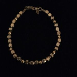 Silpada S.S. & 14k gold-filled Bead bracelet